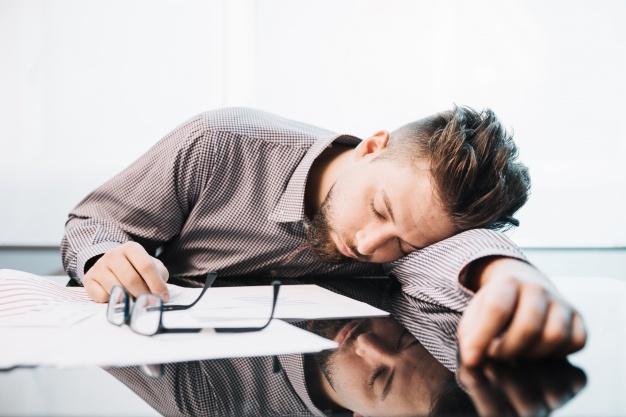 slapende werker